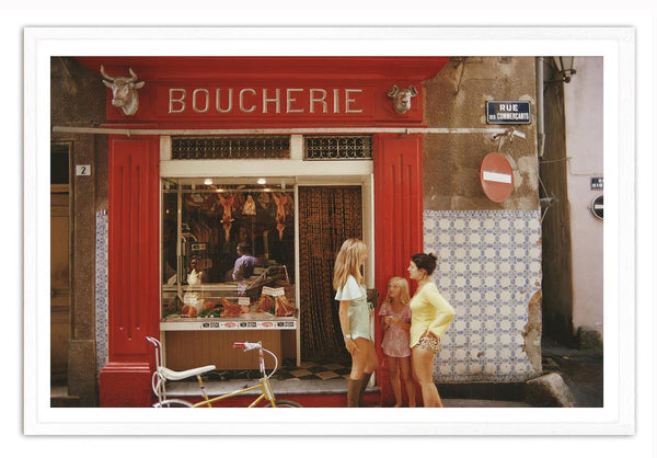 Premium Prints Best Of Slim Aaron- Saint Tropez Boucherie in a Frame