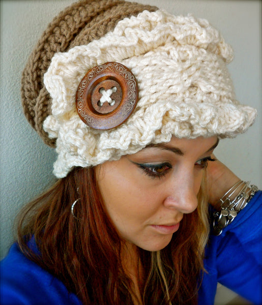 Ruffled Slouch Hat