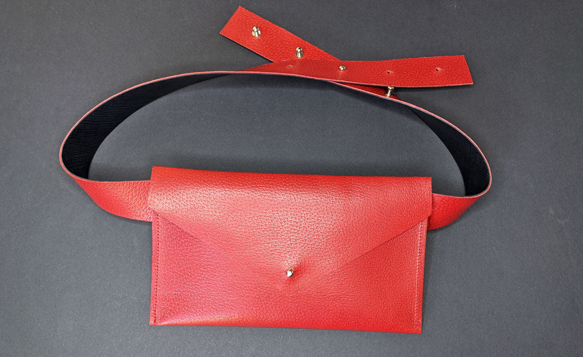 Blood Red Belt Bag