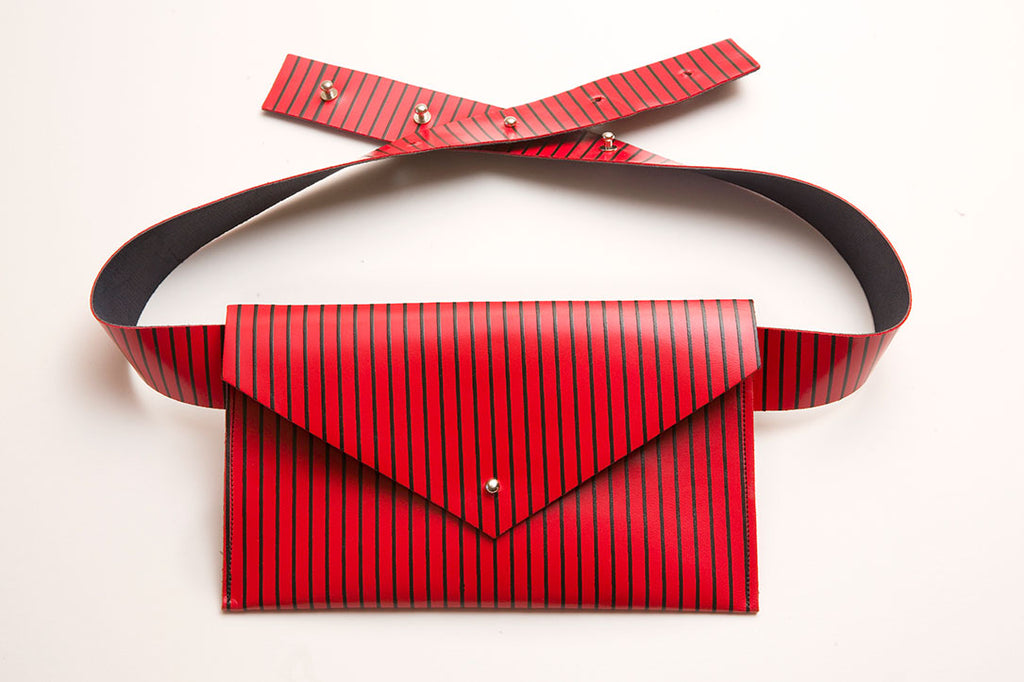 Red Stripe Belt Bag