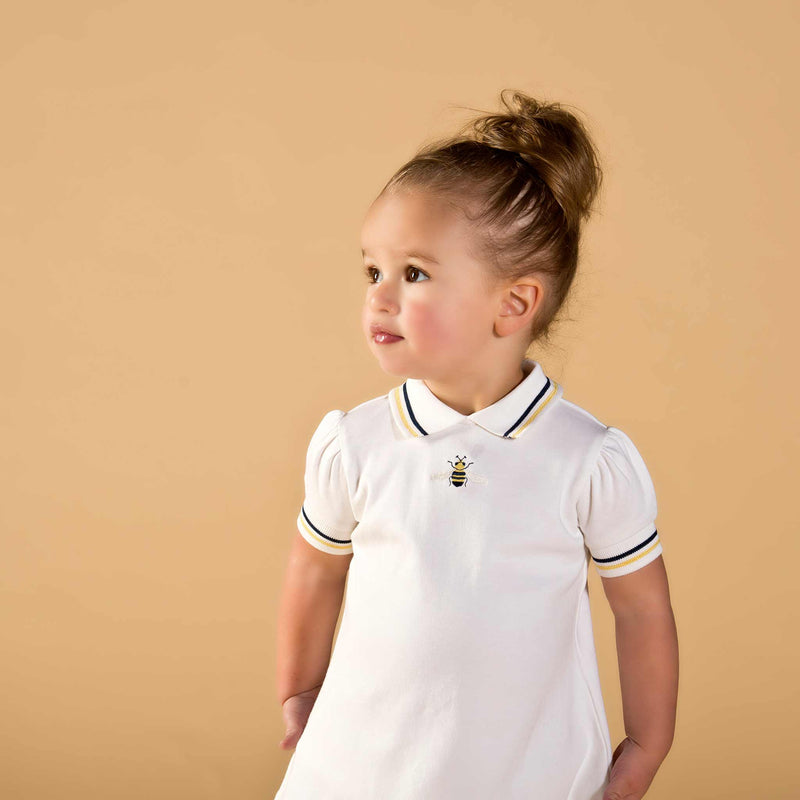 Girl wearing Oscar and Me pima cotton white top