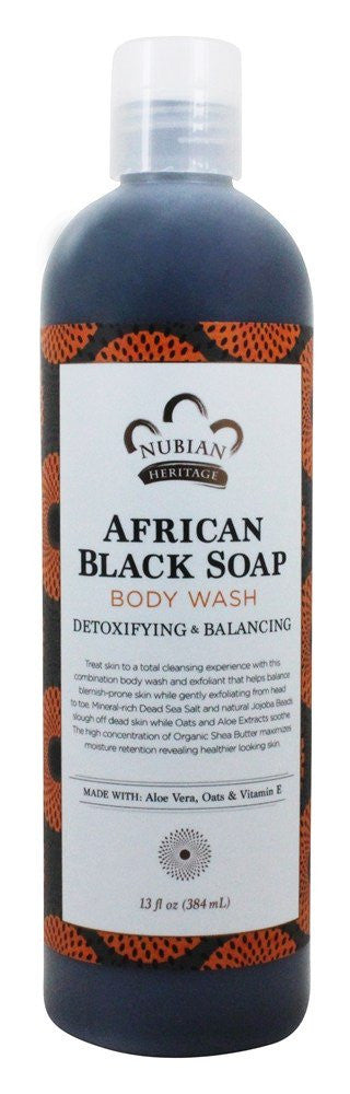 African Black Soap Body Wash by Nubian Hertiage