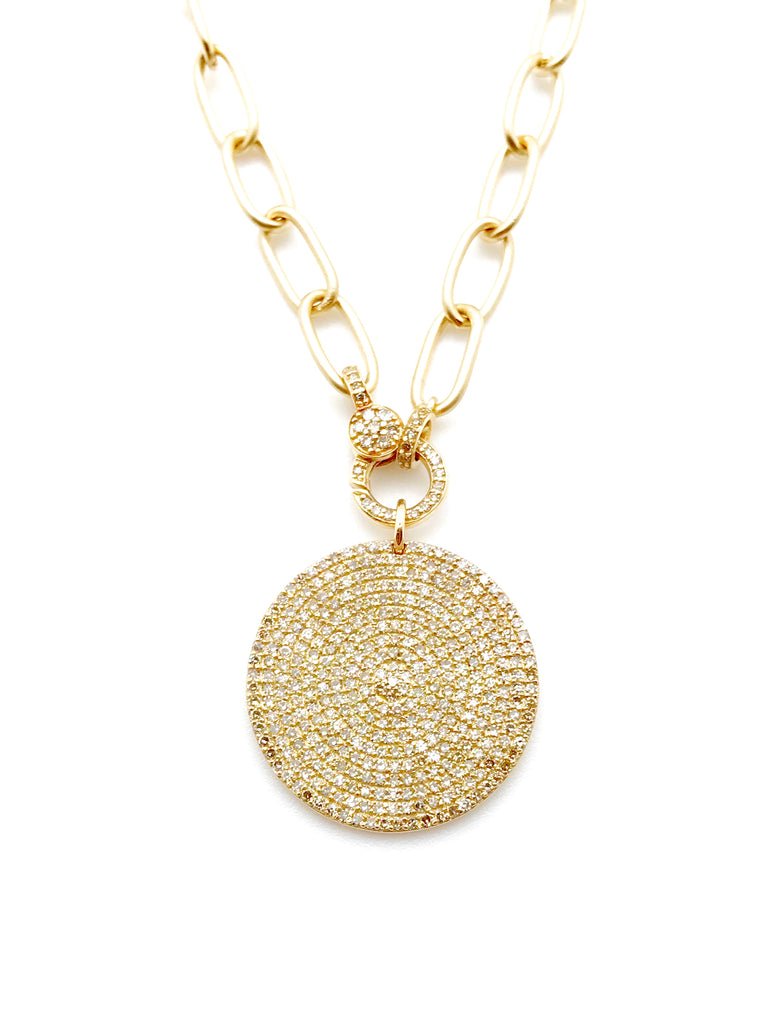 Ulka Rocks Warrenton Diamond disc necklace in 14k gold