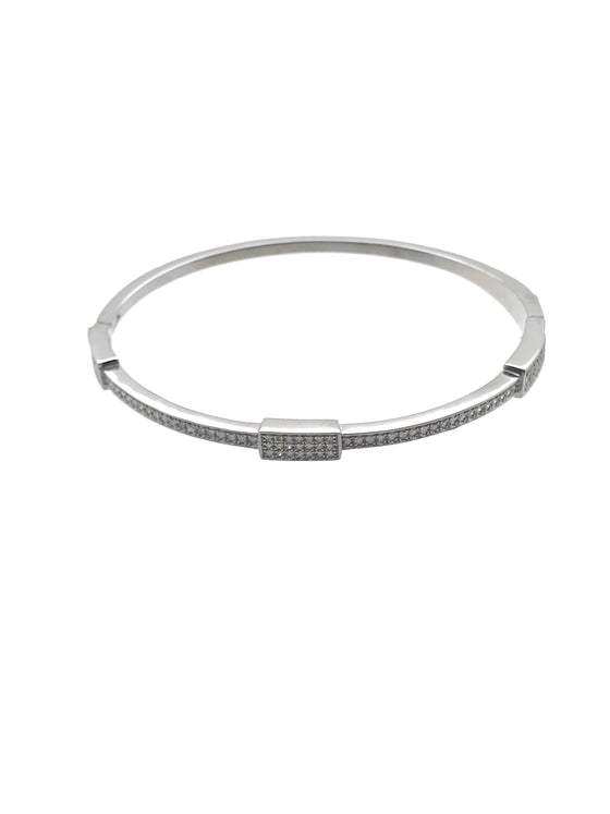 Ulka Rocks Bandera diamond bangle in sterling silver