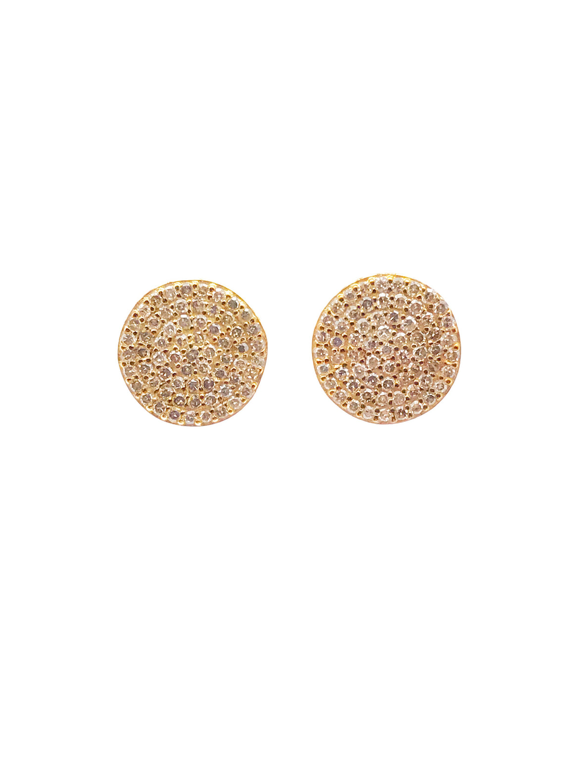 Ulka Rocks Warrenton diamond disc earrings in 14k gold