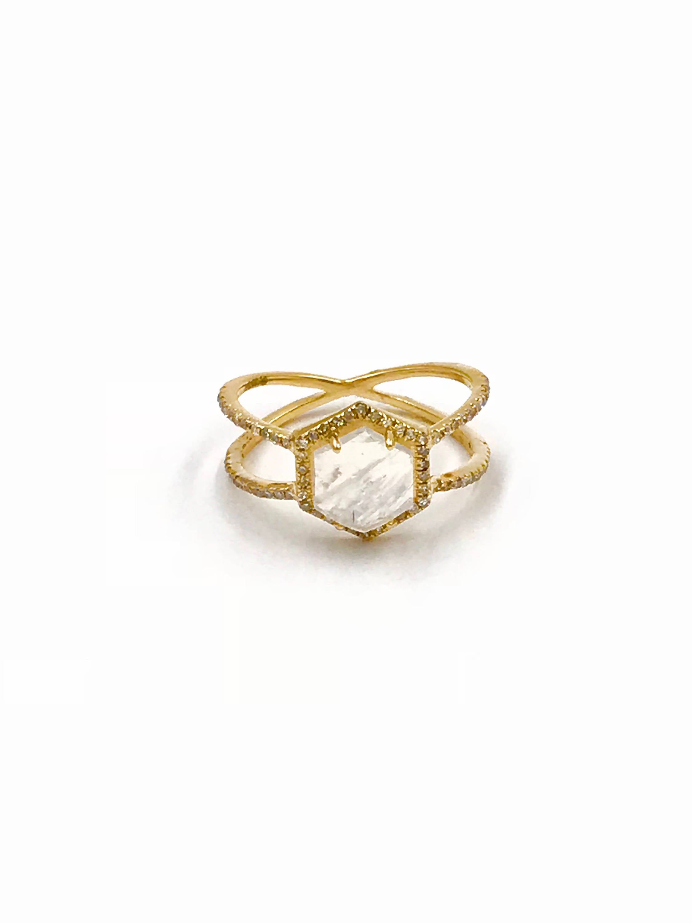 vrai oro triangle rings and trillion yellow web minimal stacking ring p diamond modern gold products