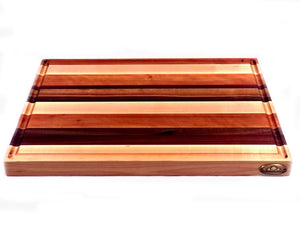 Large Edge Grain Cutting Board, 4 Woods