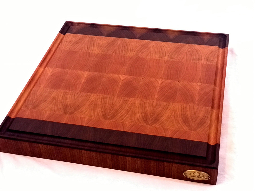 18x18x2 Cherry and Walnut End Grain Cutting Board
