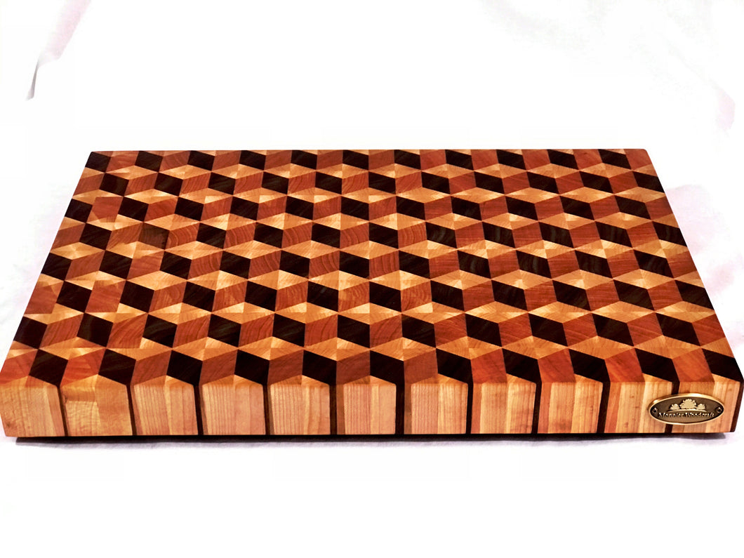 Handcrafted 3D End Grain Cutting Board