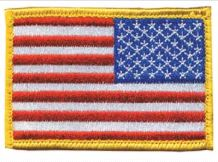 BlackHawk Reversed US Flag Colored Patch