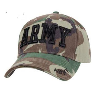 Deluxe Army Embroidered Insignia Cap Woodland