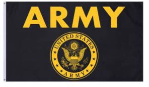 Black & Gold Army Flag