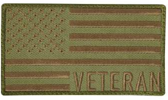 Coyote Veteran Flag Patch