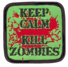 Keep Calm Kill Zombies Patch