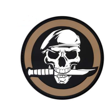 Skull and Knife PVC Patch