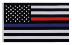 Thin Red And Blue Line Flag