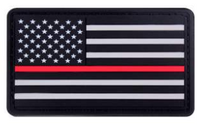 Thin Red Line PVC Patch