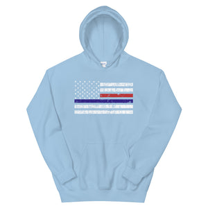 Thin Red and Blue Line - Hoodie