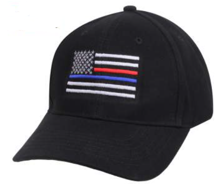 Thin Red and Blue Line Hat
