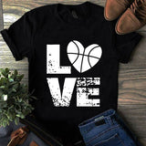 love basketball Short-Sleeve Unisex T-Shirt