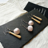 New Arrival Creative Funny Irregular Baseball Basketball Drop Earrings Long Tassel Personalized Dangle Earrings Jewelry Brincos