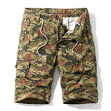 Luulla Men 2020 Summer New Casual Vintage Classic Pockets Cargo Shorts Men Outwear Fashion Twill Cotton Camouflage Shorts Men