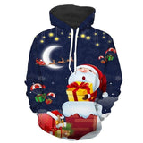 Men Women 3d Hoodies Hooded Sweatshirts Christmas Gifts Santa Claus print Female Pullovers Winter Fashion Casual Male Tops Hoody