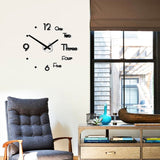 Wall Clock Stickers 3D Modern Watch Kitchen Quartz Needle Acrylic Home Decoration Living Room Silent Antique Round Acrylic Gifts