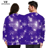 VIP FASHION Winter Couples Sweatshirt Two Person Unisex Pullover Two Person Sweatshirts Novelty Ugly Christmas Sweatshirts Male