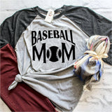 baseball mom 3/4 sleeve raglan shirt