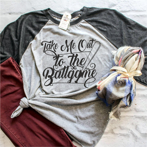 take me out to the ballgame baseball ballgame for men and women, t-shirt type and Sweat Shirt Long Sleeve tank top Youth Tee V-Neck Ladies Tee 3/4 sleeve shirts Polo shirts Unisex hoodie style