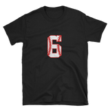 design baseball number 6 Short-Sleeve Unisex T-Shirt