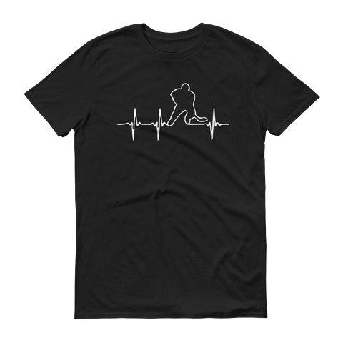 hockey heartbeat Short-Sleeve T-Shirt