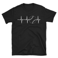 baseball heartbeat Short-Sleeve Unisex T-Shirt