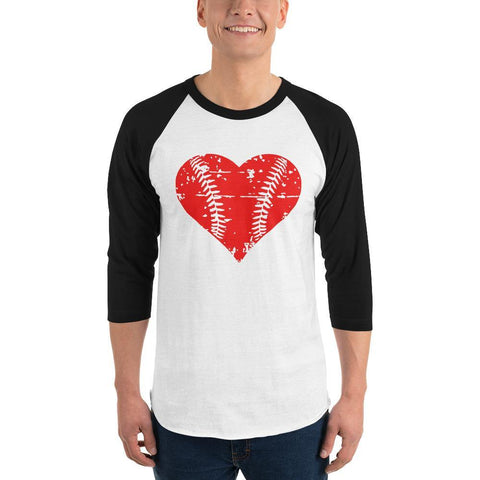 heart baseball 3/4 sleeve raglan shirt