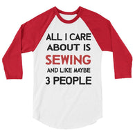 all i care about is sewing 3/4 sleeve raglan shirt