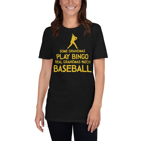 BASEBALL GRANDMAS Gildan 64000 Unisex Softstyle T-Shirt with Tear Away Label