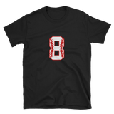 design baseball number 8 Short-Sleeve Unisex T-Shirt