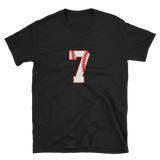 design baseball number 7 Short-Sleeve Unisex T-Shirt