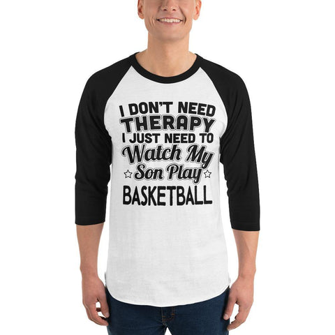 son play basketball 3/4 sleeve raglan shirt