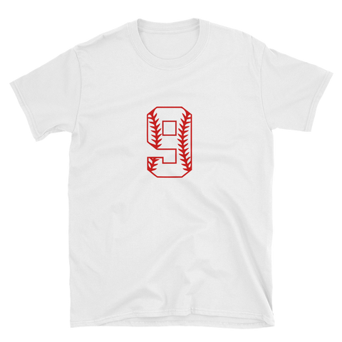design baseball number 9 Short-Sleeve Unisex T-Shirt