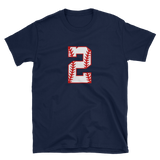 design baseball number 2 Short-Sleeve Unisex T-Shirt