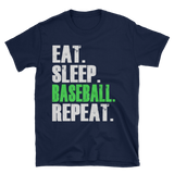 eat sleep baseball repeat Short-Sleeve Unisex T-Shirt