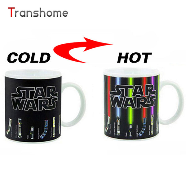 Transhome Personalized Color Change Porcelain Mug Star Wars Lightsaber 11oz Ceramic Coffee Mug Dragon Ball Series Mug China Bone