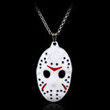 Horror Movie Friday The 13th Necklace Hockey Killer Jason Mask Pendant Necklace Fashion Men Boys Link Chain Neck lace Collier