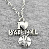 WYSIWYG 21*20mm I Heart Basketball Pendant Necklace Jewelry, Handmade Necklace Gift For Women
