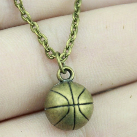 WYSIWYG 11mm 3D Basketball Pendant Necklace Jewelry, Handmade Necklace Gift For Women