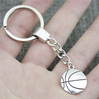 WYSIWYG 22*18mm Basketball KeyChain, New Fashion Handmade Metal Keychain Party Gift
