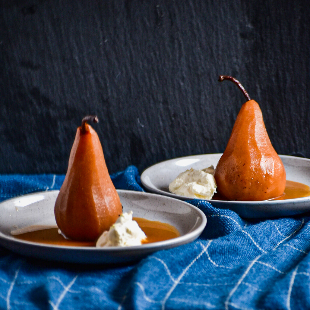 Nidhi's Chai Poached Pears Recipe