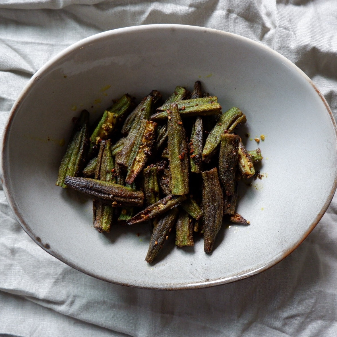 Coconut Bhindi (Okra) Fry Recipe